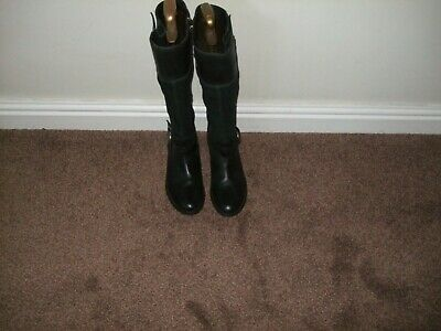 Timberland Earth Keepers   Knee-High  Black Suede/Leather  Boots  Uk Size 7.5