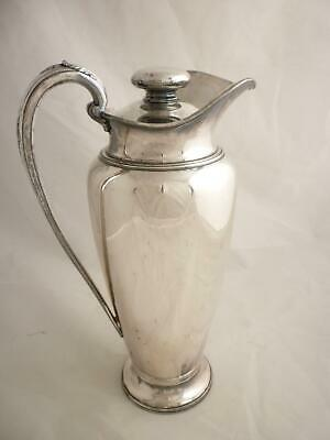 "Antique Wilcox Cocktail Pitcher Silver Plate 1927 Deco Design 64oz 13"" tall RARE"