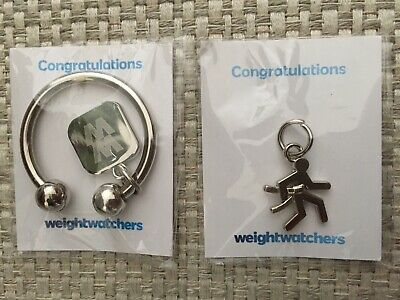 WW Weight Watchers Celebration Award 4 Week Try-A-Thon Charms Keyring Key Chain