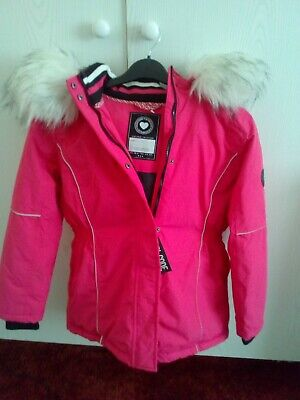 New Girls Hooded Winter Jacket / Coat  Pink 13 Years