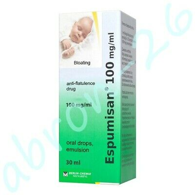 Espumisan 100 mg Anti-colic Oral Drops Bloating Stomach Pain Kolki Wzdęcia  30ml