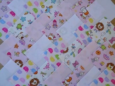 30 X 4 Inch Squares Cotton Patchwork Fabric Charm Pack - Childrens 1