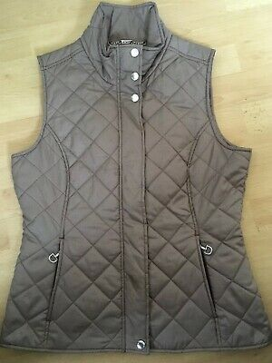 Genuine ARIAT GILET size SMALL / UK 8 Body Warmer Brown Check Quilted Jacket