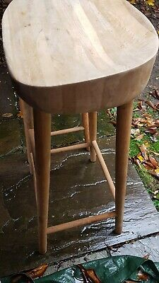 Nearly new solid wood (weathered oak) bar stools. Kitchen, breakfast bar