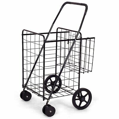 Jumbo Basket for Grocery Laundry Travel w- Swivel Wheels