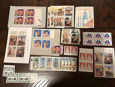 us mint stamps MNH 1990 To 1994 25 And 29 Cent Face Value $23.14