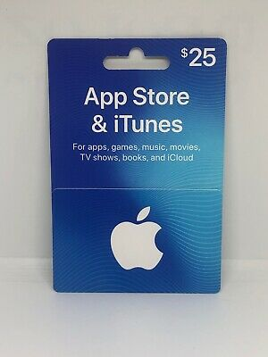 $25 Apple Gift Card App Store & iTunes NEW Unused Physical GiftCard