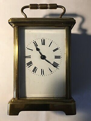 Victorian Antique Carriage Clock For Spares Or Repairs
