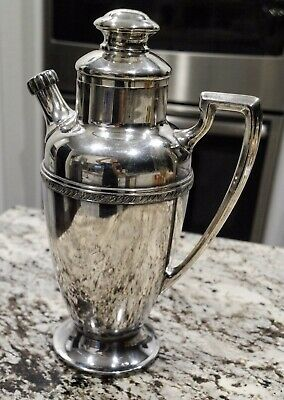 Melford Silver Plate 56 oz. Cocktail Shaker Pitcher