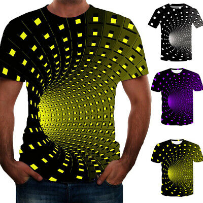 US Funny Hypnosis 3D T-Shirt Men Women Graphc Casual Fashio Short Sleeve Tee Top