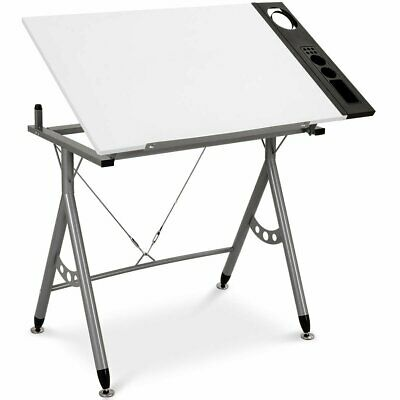 Adjustable Art & Craft Station Drawing Desk w- Side Tray