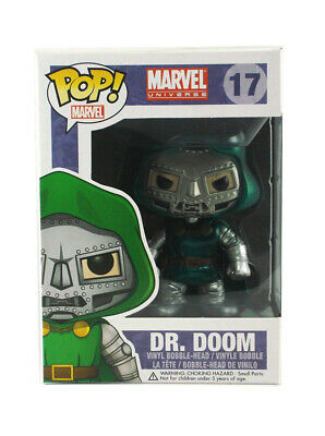 Funko Pop Dr. Doom Metallic Vinyl Figure #17 Marvel Universe Brand New In Box