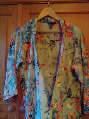 New Look Oriental kimono Inspired Dressing Gown/housecoat . Size 10