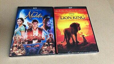 Lion King Live Action and Aladdin Live Action DVD 2 Movies Brand New USA seller