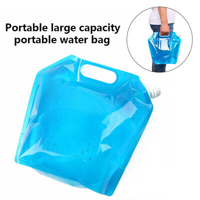 Portable Folding Clear Water Bag Camping Hiking Survival Tool Kit Supply 5L