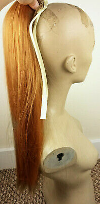 """20"""" ginger red copper straight pony tail hair extension hair piece fancy dress"""