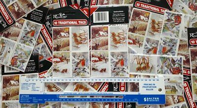 2160 TRADITIONAL SELF-ADHESIVE CHRISTMAS GIFT TAGS 10 per pack, 3 boxes 72 packs