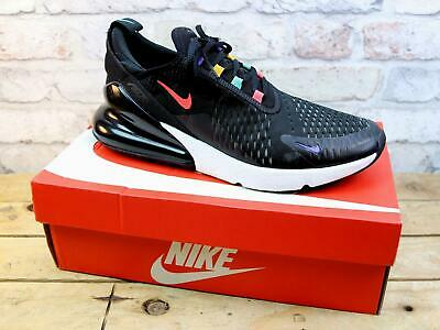 Mens Nike Air Max 270 Black Knit Mesh Sports Gym Trainers Size 9 Damaged Uppers