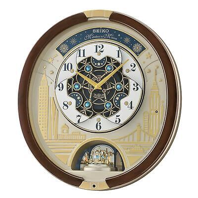 New Seiko Melodies in Motion 2019 Animated Musical Christmas Carol Wall Clock