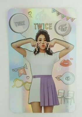 "K-POP TWICE CHAEYOUNG Hologram Photocard - Official Album ""TWICECOASTER LANE 1"""