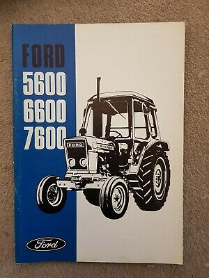 Ford 5600 6600 7600 Tractor Operators Manual 1977
