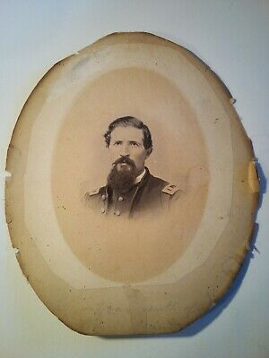 Civil war era original photograph. Details unknown. Writing at bottom of photo.