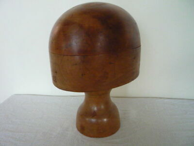 Vintage French Milliners Wooden Hat Block Stand Shop Display Home Decor Size 22