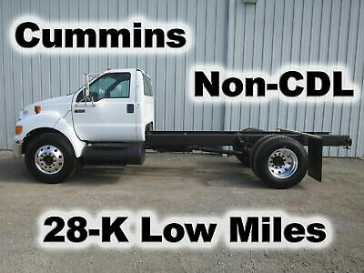 F650 Cummins Automatic Cab Chassis Straight Frame Truck Non-Cdl 28-K Low Miles