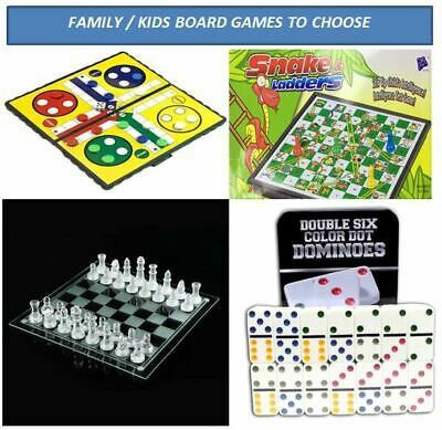 Board Games - Family/Kids Fun Play Educational Toy - Chess Ludo Snakes & Ladders