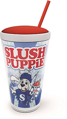 Slush Puppie Straw Cup Double Walled Ice Cup Official Slushy Puppy 500ml