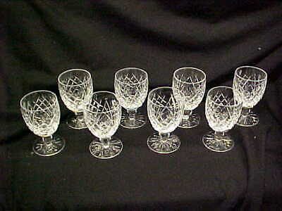 """8 Vintage Waterford Donegal 5 1/4"""" Water Goblets Signed Old Mark"""