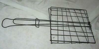 Antique Iron Wire Hand Held Toaster for Fireplace or Campfire