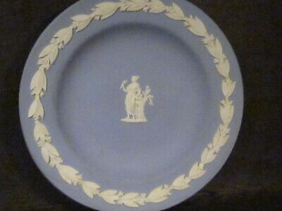 Wedgwood Jasperware Blue & White   ROUND PIN TRAY  4 1/4""