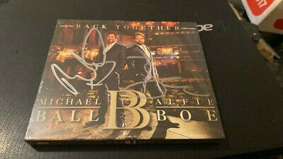 Michael Ball And Alfie Boe--Back Together---Autographed--Rare---Uk Cd Album