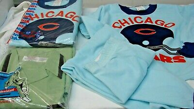 ALL FOR ONE $ ~ 1970s OLD STOCK LOT 3 VINTAGE BOY'S NOVELTY PAJAMAS size 8 - 10