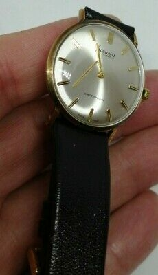 1969 9ct Gold Accurist Gents Presentation Wristwatch 21 Jewels, Swiss Vintage