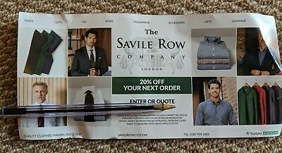 The Savile Row Company Online Voucher Discount Code for 20% off.
