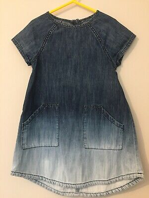 Next Girls Demin Two Tone Dress Age 3-4 Years