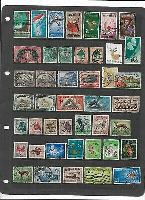 South Africa Stock Sheet Old Useful All Different With Animals  Used Collection