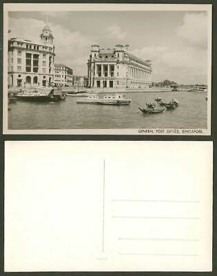 Singapore Old Real Photo Postcard General Post Office, Food Supplies Fitzpatrick