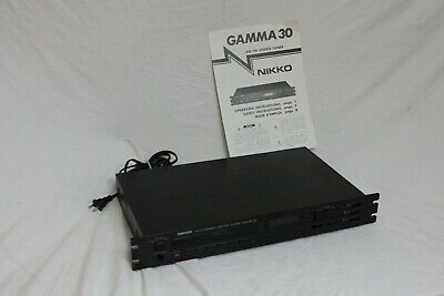 Vintage Nikko Gamma 30 Synthesized AM/FM Stereo Tuner with manual