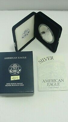 2001 American Eagle 1 ounce Fine Silver Proof One Dollar Coin - NO RESERVE