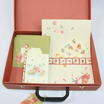 Disney Winnie-the-Pooh Simply Pooh Paper Suitcase Letter Writing Set COLLECTABLE