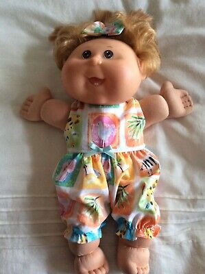 "Doll Clothes Fits 14"" Cabbage PATCH  doll ~ Jumpsuit/ Romper : Zoo Animal Print"