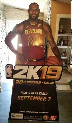 lifesize Details about  /Lebron James Cardboard Cutout Standee.