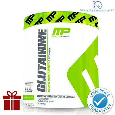 MUSCLEPHARM GLUTAMINE 300G 60serv. ENHANCE MUSCLE GROWTH RECOVERY | FREE GIFT !
