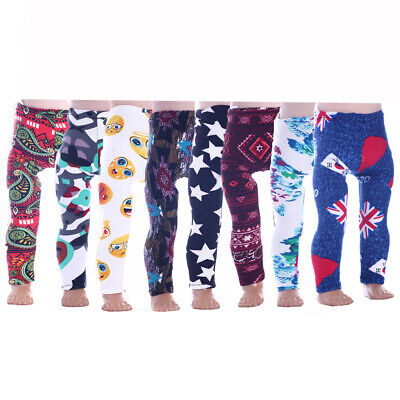 Fit For 18/'/' American Girl Leggings Brick Red Long Pants Trousers Doll Clothes