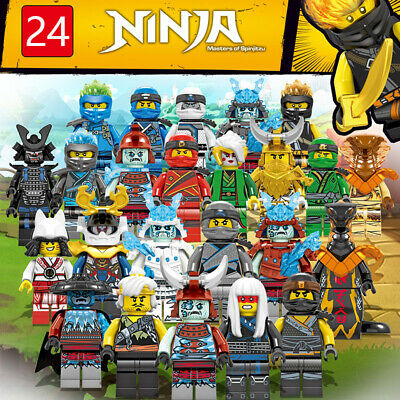 Ninjago  24 Pcs Mini Figures Kai Jay Zane Char Akita Building Blocks Toys Set UK