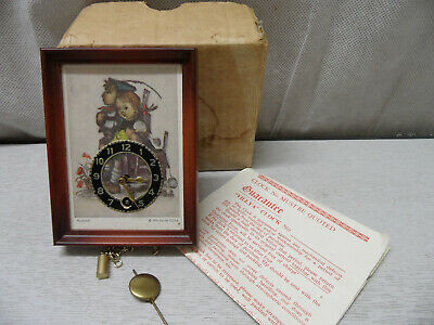 Vintage Hummel 'Villya' Miniture Wall Clock - With Pendulum - Key Not Included