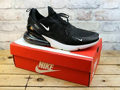 Mens Nike Air Max 270 Black Knit Mesh Sports Gym Trainers Size 11 Damaged Uppers